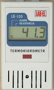 LB-520 thermo hygrometer with humidity and temperature recording