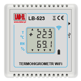 LB-523 WiFi wireless thermo hygrometer, wireless WiFi recorder