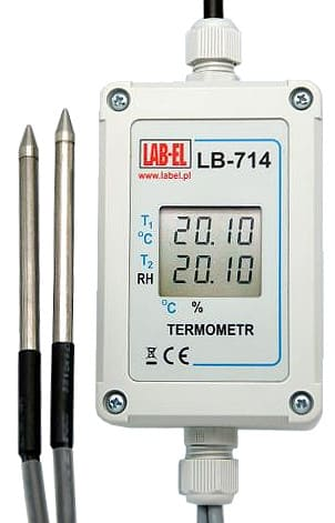 Dual Thermometer LB-714, Wet-and-Dry Bulb Thermometers LB-714P