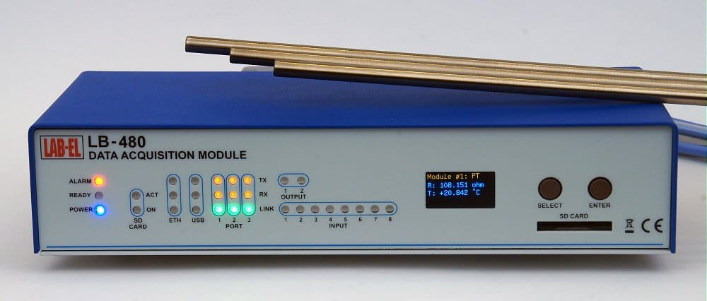 Precision Thermometer 0.001°C — LB-480 with LB-499-PT modules