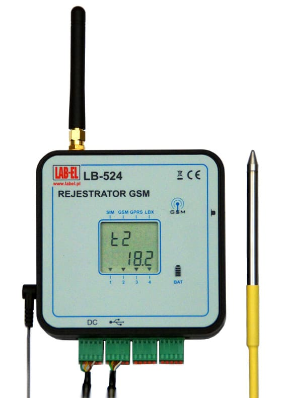 Four Channel Thermometer Amp Temperature Logger With Gsm
